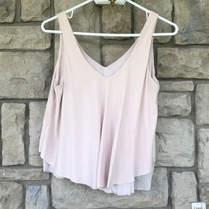 Express blush ballet pink flutter top